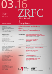 Dokument Risk, Fraud & Compliance Ausgabe 03 2016
