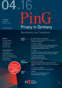 Dokument PinG Privacy in Germany Ausgabe 04 2016