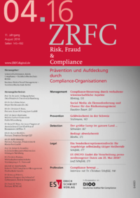 Dokument Risk, Fraud & Compliance Ausgabe 04 2016
