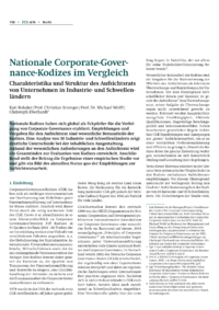Dokument Nationale Corporate-Governance-Kodizes im Vergleich