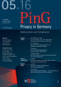 Dokument PinG Privacy in Germany Ausgabe 05 2016