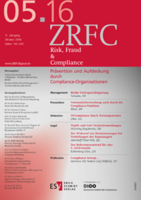 Dokument Risk, Fraud & Compliance Ausgabe 05 2016