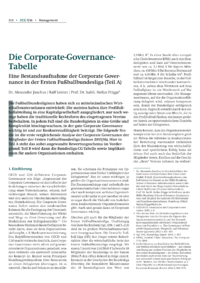 Dokument Die Corporate-Governance-Tabelle