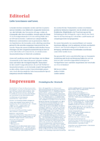 Dokument Impressum / Editorial