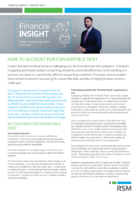 Dokument Financial Insight | January 2018 – How to account for convertible debt