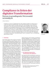 Dokument Compliance in Zeiten der digitalen Transformation
