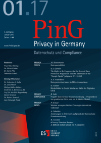 Dokument PinG Privacy in Germany Ausgabe 01 2017