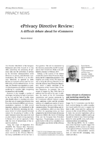 Dokument ePrivacy Directive Review: