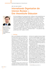 Dokument Internationale Organisation der Internen Revision – Eine theoretische Diskussion