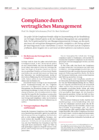 Dokument Compliance durch vertragliches Management