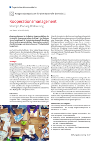 Dokument Kooperationsmanagement