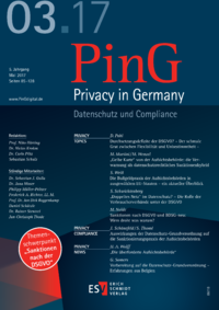Dokument PinG Privacy in Germany Ausgabe 03 2017