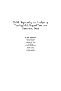 Dokument EMM: Supporting the Analyst by Turning Multilingual Text into Structured Data