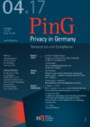 PinG Privacy in Germany Ausgabe 04 2017