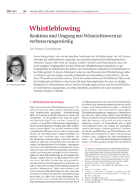 Dokument Whistleblowing