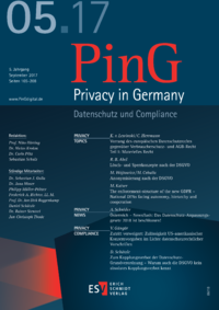 Dokument PinG Privacy in Germany Ausgabe 05 2017