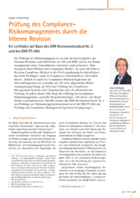 Dokument Prüfung des Compliance-Risikomanagements durch die Interne Revision