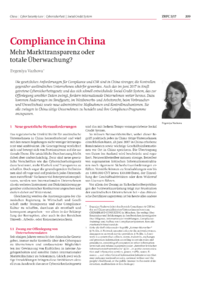 Dokument Compliance in China