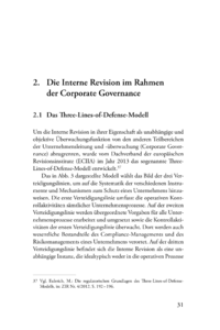Dokument Die Interne Revision im Rahmen der Corporate Governance