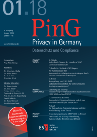 Dokument PinG Privacy in Germany Ausgabe 01 2018