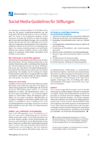 Dokument Social Media Guidelines für Stiftungen