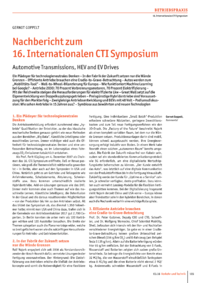 Dokument Nachbericht zum 16. Internationalen CTI Symposium