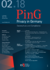 PinG Privacy in Germany Ausgabe 02 2018