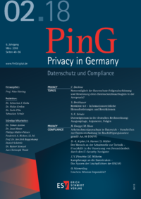 Dokument PinG Privacy in Germany Ausgabe 02 2018