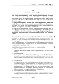 Dokument § 29 Qualitative Anforderungen