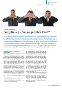 Dokument Compliance – Das ungeliebte Kind?
