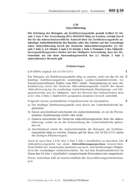 Dokument § 39 Akkreditierung