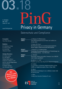 Dokument PinG Privacy in Germany Ausgabe 03 2018