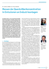 Dokument Messen der Quecksilberkonzentration in Emissionen an Industrieanlagen