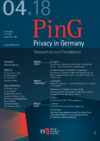 PinG Privacy in Germany Ausgabe 04 2018