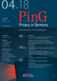 Dokument PinG Privacy in Germany Ausgabe 04 2018