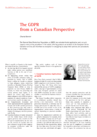 Dokument The GDPR from a Canadian Perspective