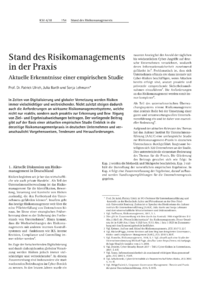 Dokument Stand des Risikomanagements in der Praxis