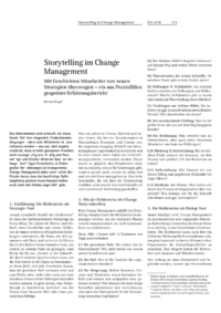 Dokument Storytelling im Change Management