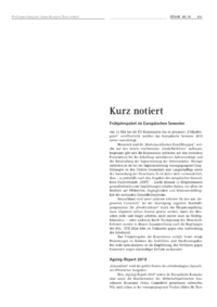 Dokument Kurz notiert