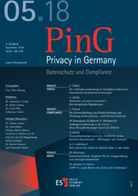Dokument PinG Privacy in Germany Ausgabe 05 2018