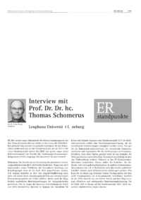 Dokument Interview mit Prof. Dr. Dr. hc. Thomas Schomerus