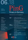 PinG Privacy in Germany Ausgabe 06 2018