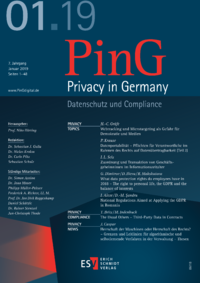 Dokument PinG Privacy in Germany Ausgabe 01 2019