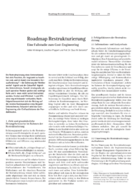 Dokument Roadmap Restrukturierung