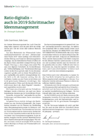 Dokument Ratio digitalis – auch in 2019 Schrittmacher Ideenmanagement