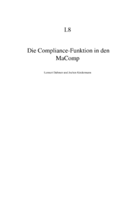 Dokument Die Compliance-Funktion in den MaComp
