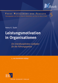 eBook Leistungsmotivation in Organisationen