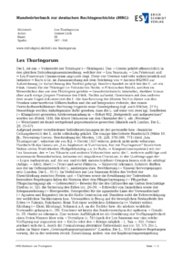 Artikel Lex Thuringorum